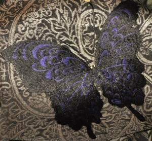 蝶 刺繍帯 大人 アンティーク