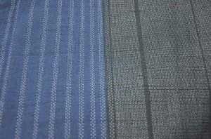 縞の越後真綿結城紬