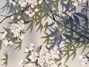 桜 アンティーク着物