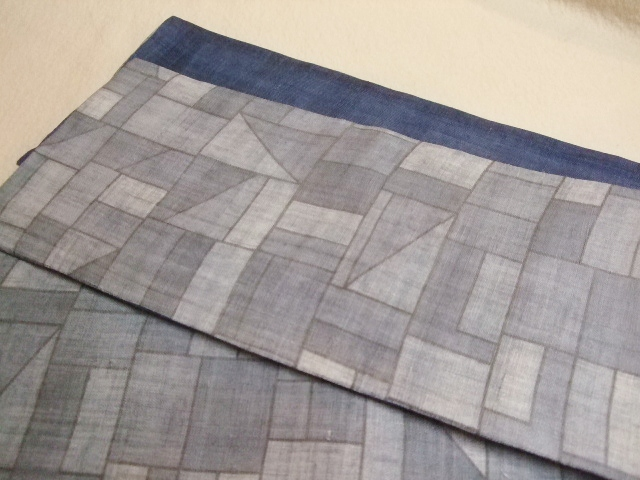 やゝオリジナル半巾帯 ブルー系