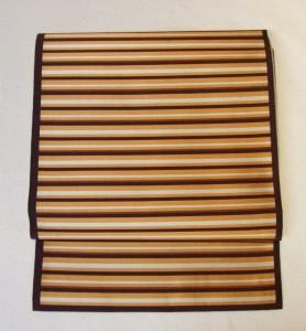 茶系縞々 袋帯 やゝ游風